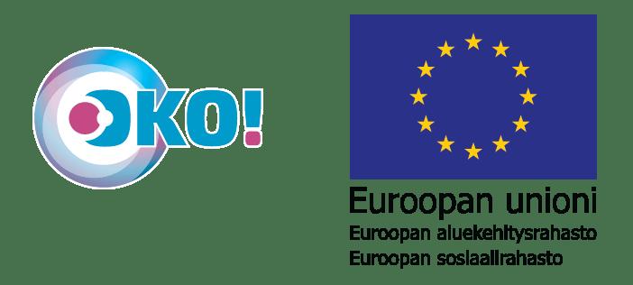 Otavian OKO-hankkeen logo ja Euroopan Sosiaalirahaston (ESR) logo